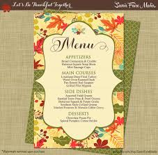 menu thanksgiving dinner ddarsow