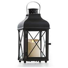 Flameless Candle Sconces With Timer 14 Inch Traditional Black Metal Lantern With Luminara Candle Timer