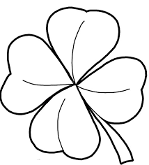 Four Leaf Clover Color Page four leaf clover coloring page and pictures to colour