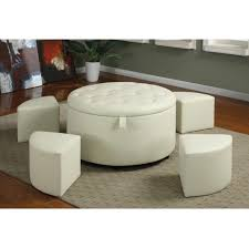 round leather coffee table living room beautiful ottoman coffee table design ideas with round