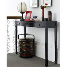 Oriental Sofa Table by Mudroom Chic Chinese Style Black Hall Console Table Horse Hoof