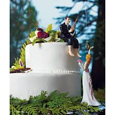 fishing wedding cake toppers fishing groom reaching hooked on cake topper