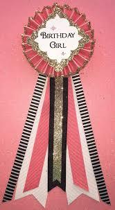 birthday girl pin birthday girl birthday corsage kate spade pink