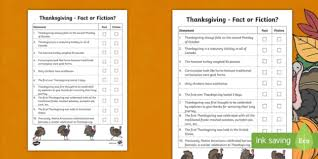 black and white canada thanksgiving fact or fiction activity