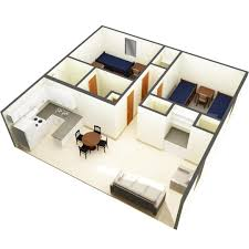 2 bedroom apartment room types