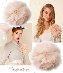 hair chiffon diy big chiffon flower brooch hair pin french pouf love
