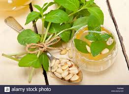 arab traditional mint and pine nuts tea stock photo royalty free