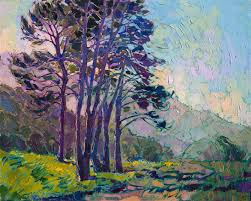 Impressionist Landscape Painting by California Impressionism Landscape Painting By Modern Artist Erin
