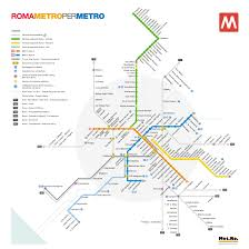 Rome Subway Map by Searchaio Rome Metro Official Site