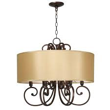 Wilshire Chandelier World Imports Rue Maison 6 Light Iron And Euro Bronze Chandelier