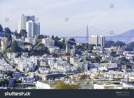 aerial view russian hill north beach stock photo 247844932
