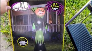 halloween inflatable tall pumpkin lawn decoration 10ft high youtube