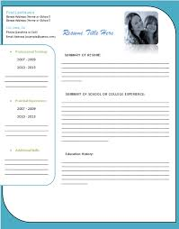 Free Blank Resume Templates For Microsoft Word Free Basic Resume Templates Microsoft Word Printable Student