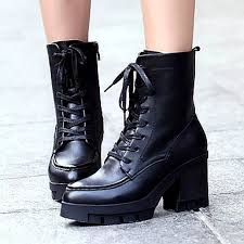 womens black boots nz s shoes nz amigirl fashion sale leather chunky heel