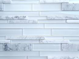 Wholesale Backsplash Tile Kitchen Subway Icy White Glass U0026 Stone Mosaic Backsplash Tile 15 7 10