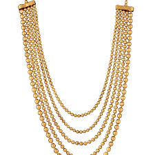girl with gold necklace images Dancing girl golden metal multi strand necklace for girls adiva jpg