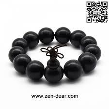 black beaded necklace images Zen dear unisex natural ebony wood buddhist prayer bead necklace jpg