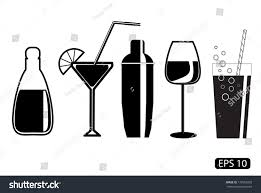 martini shaker drawing vector glass drawings on white background stock vector 172053203