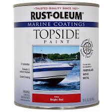 shop rust oleum marine coatings bright red gloss enamel oil based