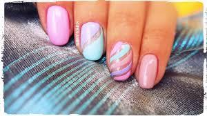 summer nail design with velvet stripes youtube