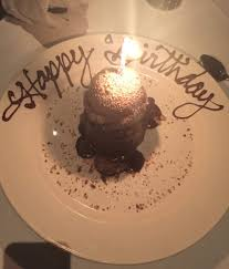 chocolate lava cake happy birthday to me yelp