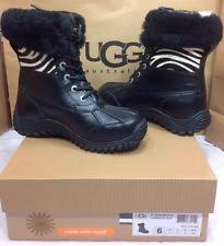 ugg womens adirondack ii boot print print leather winter boots for ebay