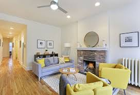 Ikea Ceiling Fans Contemporary Living Room With Ceiling Fan By The Corcoran Group