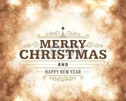 merry christmas message and light background vector illustration