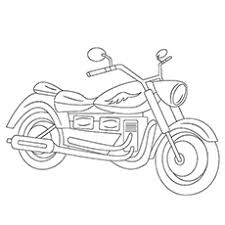 motorcycle coloring pages free printable kids