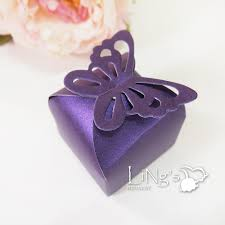 butterfly pattern favor gift candy bomboniere boxes wedding party