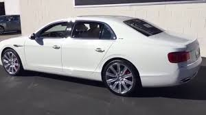 white bentley 2017 white bentley flying spur youtube
