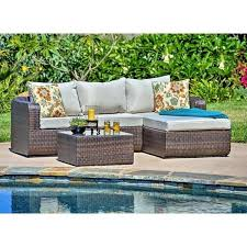 Wicker Patio Conversation Sets Luies 3 Piece Wicker Patio Conversation Set In Espresso Brown By