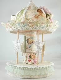 carousel cake topper cardboard carousel part 1