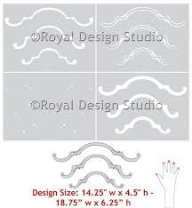 furniture stencils ornamental scroll set a royal design studio