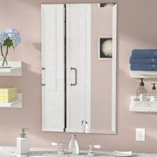 Beveled Mirrors For Bathroom Frameless Mirrors You Ll Wayfair