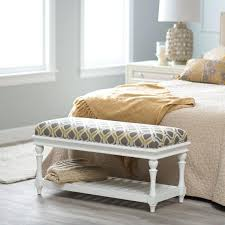 tags1 bedroom white storage bench with cushion end of bed chair