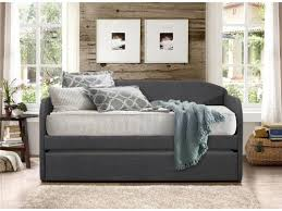 leanna transitional fabric daybed with trundle u2013 oc homestyle