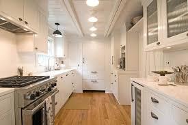 white galley kitchen cottage kitchen hampton design