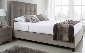 Ottoman Frames 5ft King Size Kaydian Walkworth Mink Ottoman Fabric Bed Frame