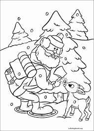rudolph red nosed reindeer coloring 010 coloringbook org