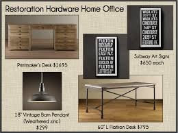 Restoration Hardware Decor A New Home Office Like Restoration Hardware Only Cheaper