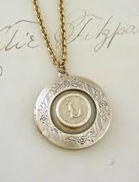 Cheap Personalized Necklaces Locket Necklace Initial L Letter L Vintage Brass