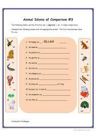 26 free esl animal idioms worksheets