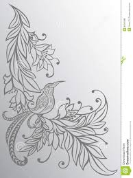 drawings of flowers and birds flowers and leaves