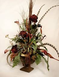 Dining Room Flower Arrangements Tip U0026 Trik Silk Faux Flower Arrangements For Mesmerizing Dining