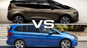 bmw minivan 2017 renault grand scenic vs 2016 bmw 2 series gran tourer youtube