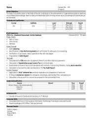 Sample Resume For Assistant Professor In Computer Science by Sample Resume Format For Freshers Resume Formates Best Resume