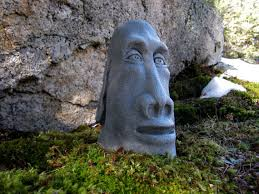 easter island concrete rock moai statue cement
