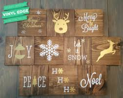 wood joy christmas block set wood christmas sign seasonal