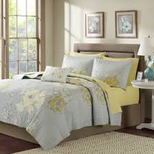 Coverlet Sets Bedding Buy Grey And Yellow Bedding Sets From Bed Bath U0026 Beyond